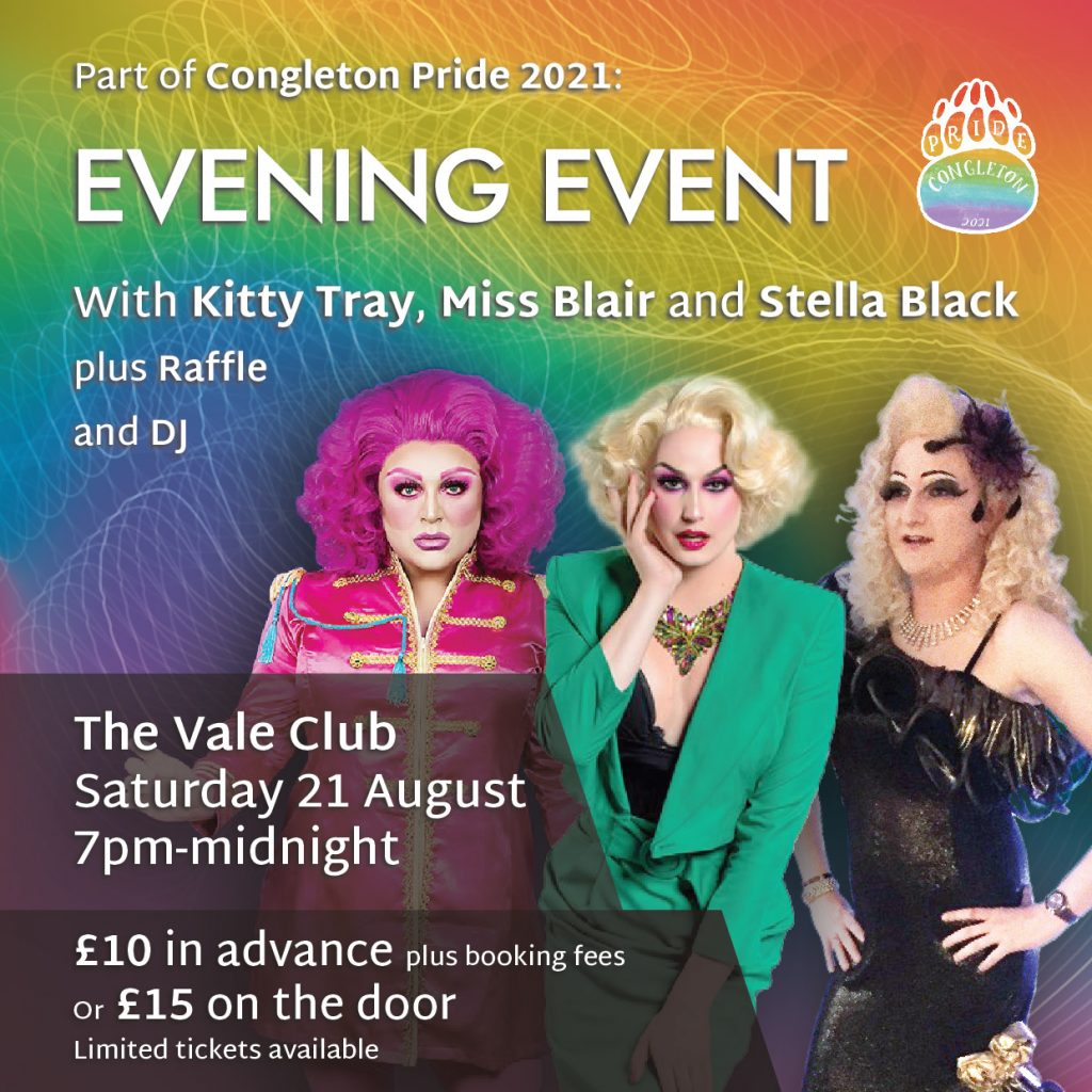 Congleton Pride Evening Event at the Vale Club