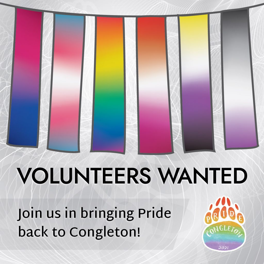 Volunteers wanted - join us in bringing Pride back to Congleton!